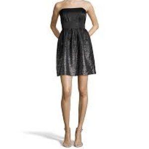 Shoshanna Chelsea strapless metallic dress
